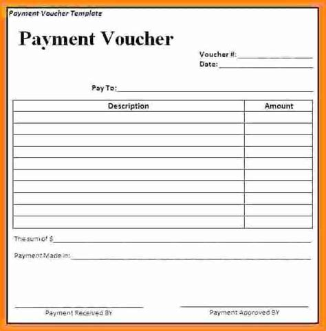 receipt voucher template 7 payment voucher format in word simple salary slip