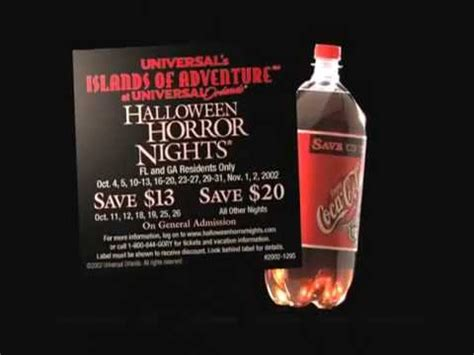 halloween horror nights 12 commercial coke youtube