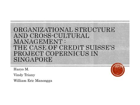 Cross Cultural Management 1 organizational structure and cross cultural management