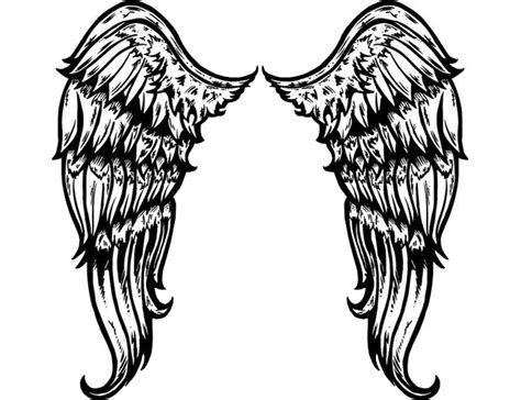 black and white angel wings tattoo designs white wings clipart best