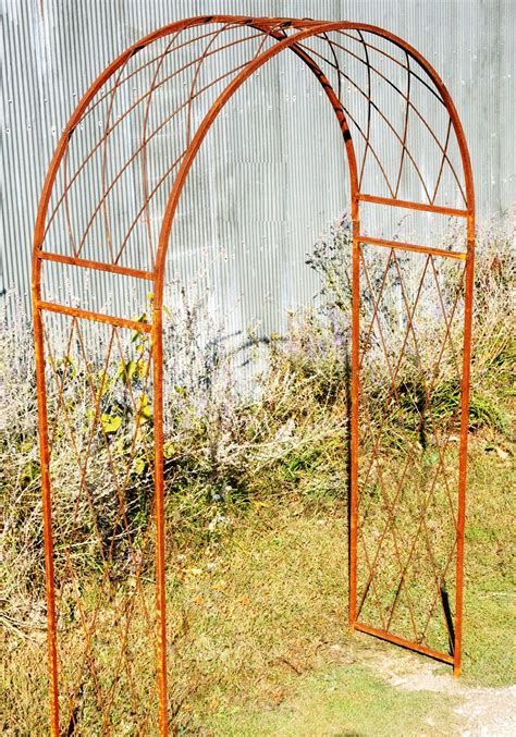 Garden Arch Trellis Metal Wrought Iron Criss Cross Arch Metal Garden Trellis