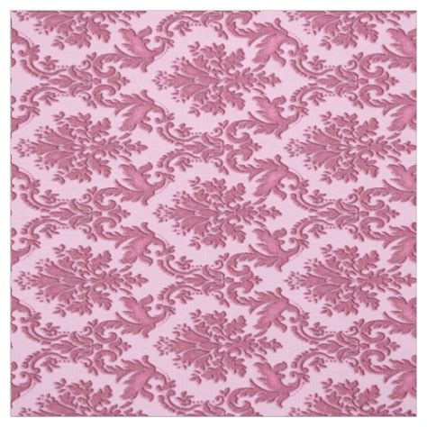 vintage inspired upholstery fabric vintage inspired pink damask print fabric zazzle
