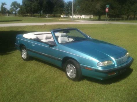automobile air conditioning repair 1993 chrysler lebaron interior lighting buy used 1993 chrysler lebaron convertible v6 5 speed standard transmission in dade city