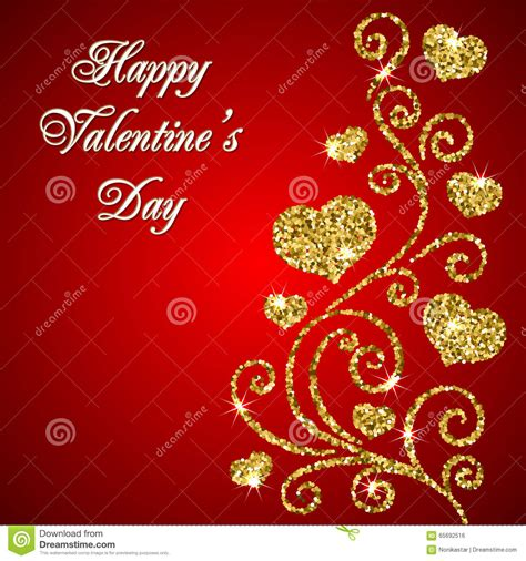 valentines day glitter images valentines day glitter card stock vector image 65692516