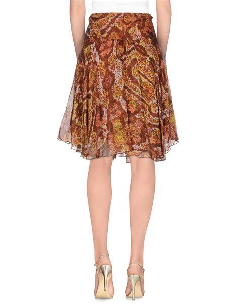 batik skirt pattern lyst antik batik knee length skirt in brown