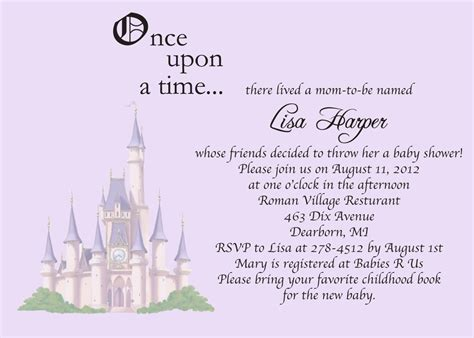 Once Upon A Time Baby Shower Invitations Free Printable Baby Shower Invitations Templates Once Upon A Time Invitation Template