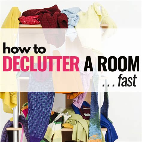 how to declutter a room in a hurry free printable checklist