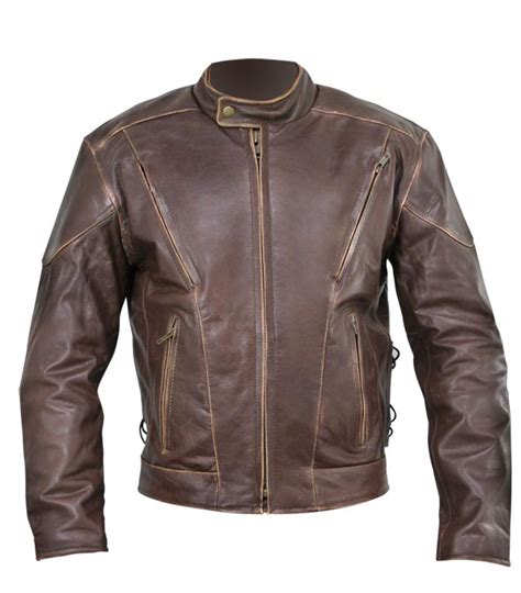 Padded Biker Jacket yumiz distressed padded biker jacket leather4sure