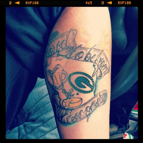wisconsin tattoos 17 best images about tattoos on packers