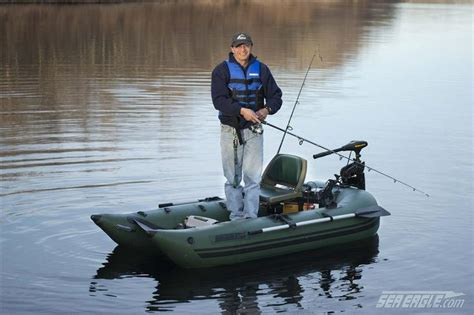 one man fishing boat sea eagle 285 frameless pontoon boat inflatable