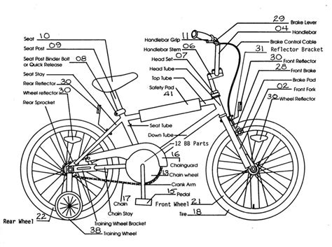 bike parts list template bicycle parts diagram to print diagram site