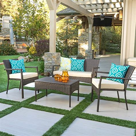 tahiti patio furniture 4 piece outdoor wicker chat set