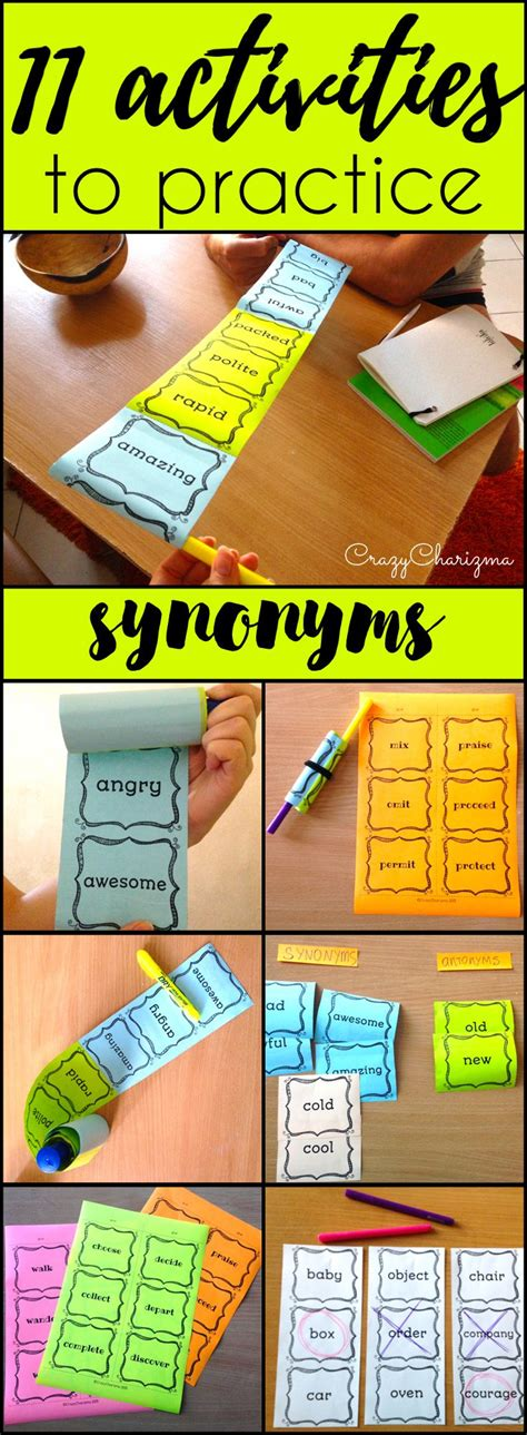 synonym for colorful 25 best ideas about synonym activities on