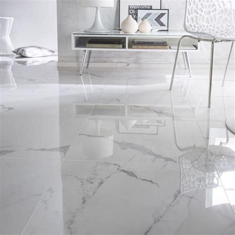 Carrelage Sol Et Mur Blanc Effet Marbre Rimini L 60 X L 60