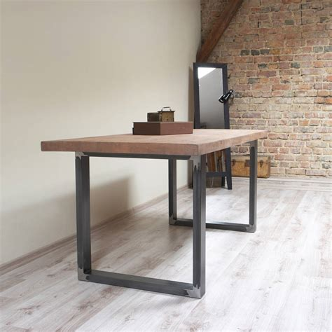 diy u shaped table legs u shaped legs industrial style dining table by cosywood notonthehighstreet