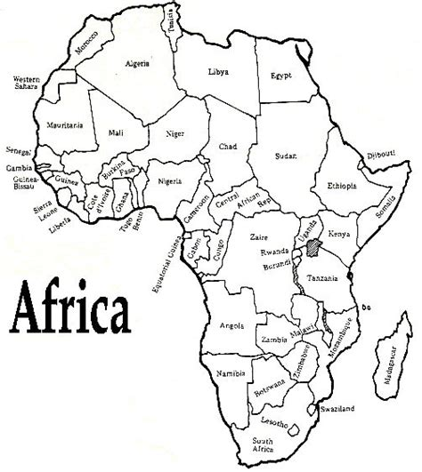 printable map africa blank printable african map with countries labled free