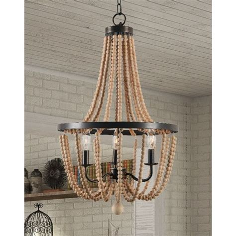 wood bead ceiling light 17 best ideas about beaded chandelier on pinterest bead
