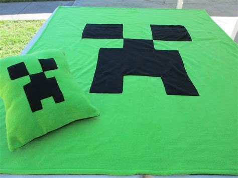 Minecraft Pillow Pattern by Minecraft Inspired Creeper Fleece Blanket Throw Cover Pillow