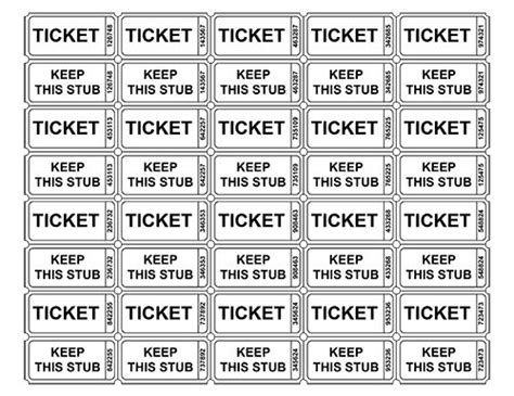 free printable raffle tickets free printable raffle