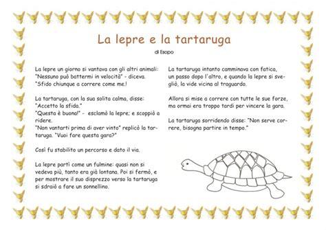 testo la favola la lepre e la tartaruga favola per bambini