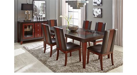 rectangle dining room sets savona chocolate 5 pc rectangle dining room contemporary