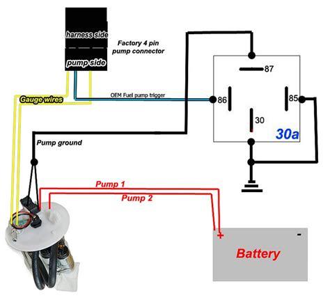 fuel pump rewire relay diagram  dual  tank pumps dsmtuners
