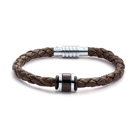 bracelet jewelry aagaard mens jewelry leather bracelet no 1233 landing