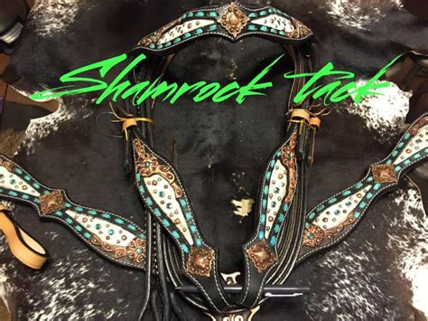 beaded tack sets new hair on turquoise buckstitch beaded tack set