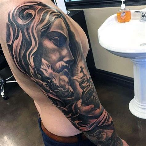 jesus tattoo designs arm 17 best images about tattoos for men on pinterest sleeve