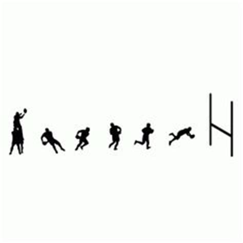 rugby wall stickers rugby border with base line wall decor
