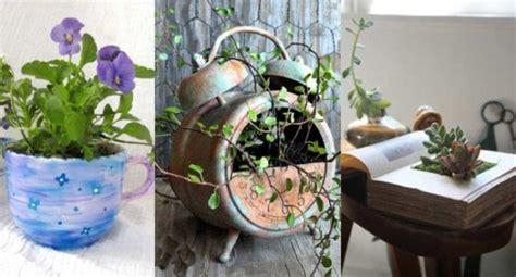 imagenes de jardines originales 80 im 225 genes de hermosas macetas originales y recicladas