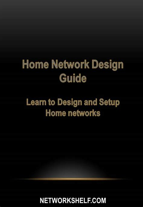 home network design with ipcamera access from network shelf