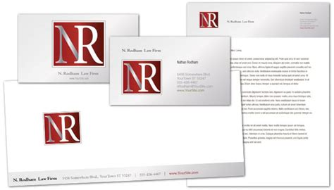 envelope template for attorney lawyer law firm order