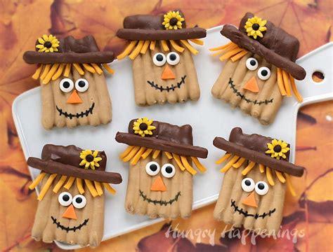 pretzel scarecrow thanksgiving recipe allfreekidscraftscom