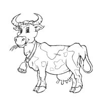 cow bell coloring page cow 187 page 2 of 2 187 coloring pages 187 surfnetkids