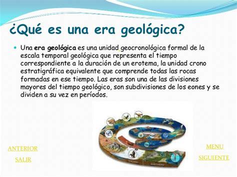 una era eras geologicas