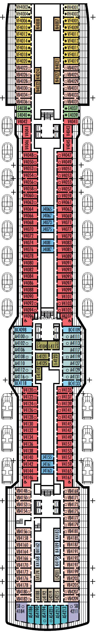 Open Cabin Floor Plans koningsdam deck plans cabin diagrams pictures