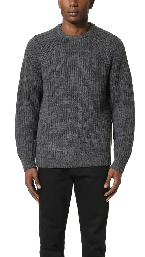 Sweater Obey Obey Mitte Sweater In Gray For Lyst