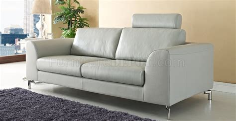 gray leather loveseat angela sofa loveseat in gray leather w options by whiteline