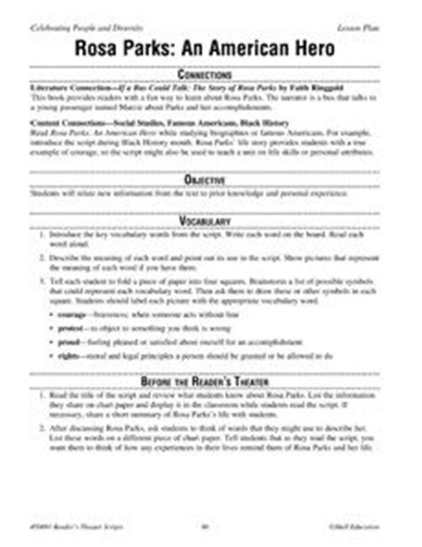 rosa parks biography lesson plan 1000 images about african american history month on