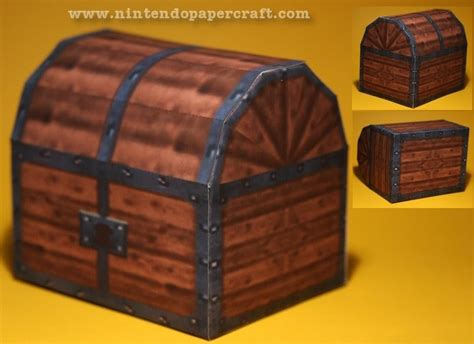 Papercraft Treasure Chest - treasure chest papercraft papercraft paradise