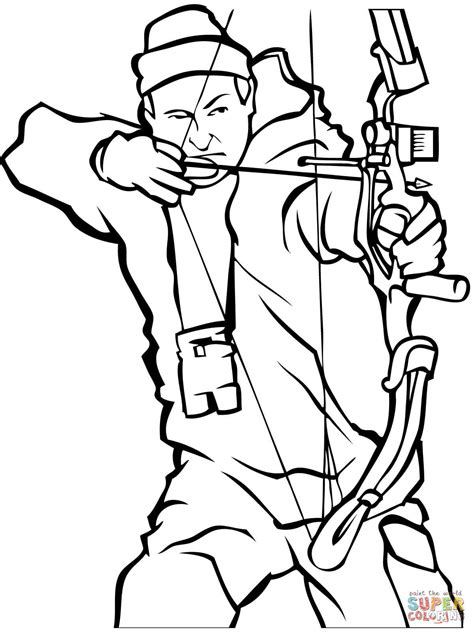 Bow Hunting Coloring Page  Free Printable Pages sketch template