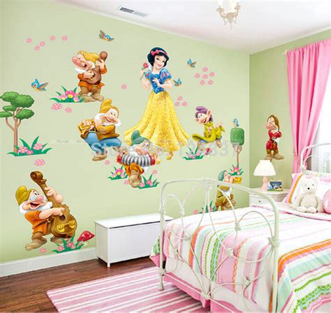 wall stickers for kids bedrooms cartoon snow white wall decals wall stickers for kids room