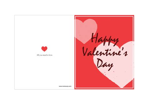 valentines card template free printable sle valentines day card template best models