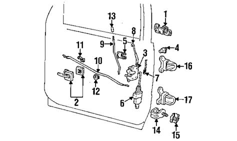 ford explorer door lock diagram 1995 ford explorer parts ford factory parts genuine
