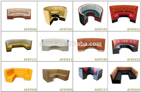 U Shaped Leather Sofa Alime Round Booth Seating Curved Banquette Seat Buy
