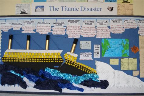 titanic class rooms 6th grade language arts intervention sequence of events and the sinking of the titanic