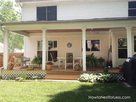 Backyard Porches by Backyard Porch Makeover How To Nest For Less