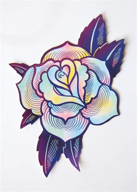 large rose tattoo designs large psychedelic sticker tattoos