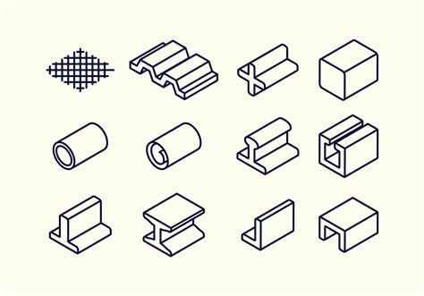 material design icon vector steel beam and rebar material vector icon download free